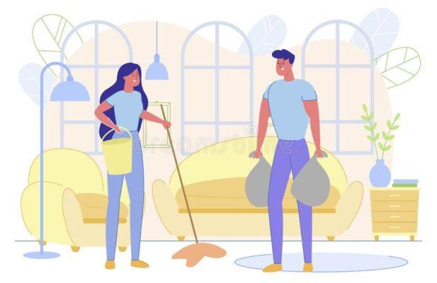 home chores couple
