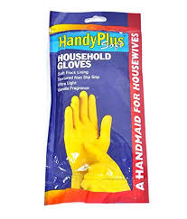 rubber hand gloves for wearing and removing stockings